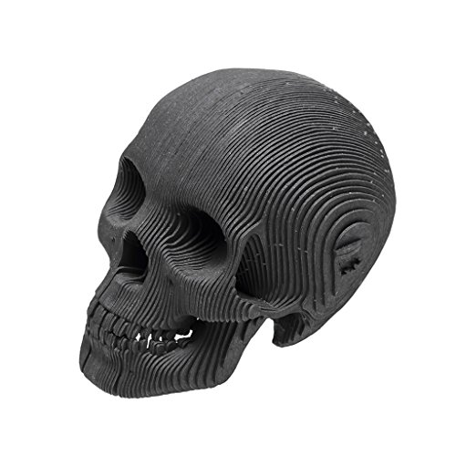 Recycled Halloween Materials Decorations (Cardboard Safari Recycled Cardboard Skull 3D Model, Micro Vince (Black,)