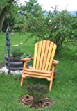 Folding Cedar Adirondack Chair W/stained Finish, Amish Crafted