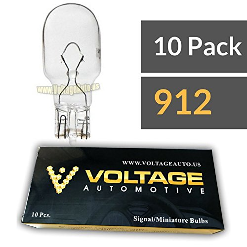 (10 Pack) 912 Bulb For License Plate Light Side Marker bulb Automotive Interior Light Dashboard light bulb Dome Miniature Wedge Light bulb - Voltage Automotive - OEM Replacement