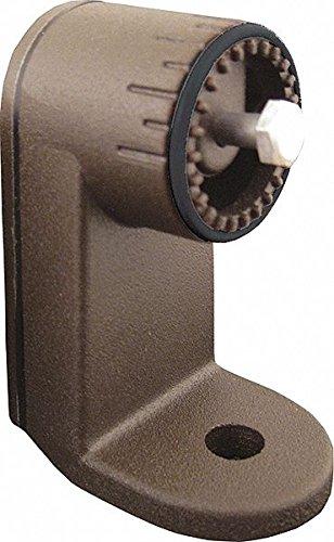3-1/2'' x 3'' x 6'' Steel Trunnion Adapter, Dark Bronze