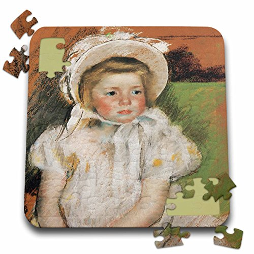 BLN Paintings of Children Fine Art Collection - Simone in a White bonnet, 1901 by Mary Cassatt - 10x10 Inch Puzzle (pzl_169639_2) (Simone Collection)