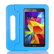 "Lumcrissy Samsung Galaxy Tab 4 7.0"" Children Kids Drop Proof Shockproof Case Soft Foam EVA Light Weight Super Protection Cover Handle Stand Case For Samsung Galaxy Tab 4 7-inch SM-T230 SM-T231 SM-T235 (Blue)"