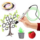 Safety and bright OLED Display 3D Print Pen, good Gifts for Kids & Adults - white