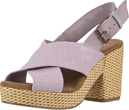 TOMS Women's Ibiza Burnished Lilac Heritage Canvas/Suede 7.5 B US