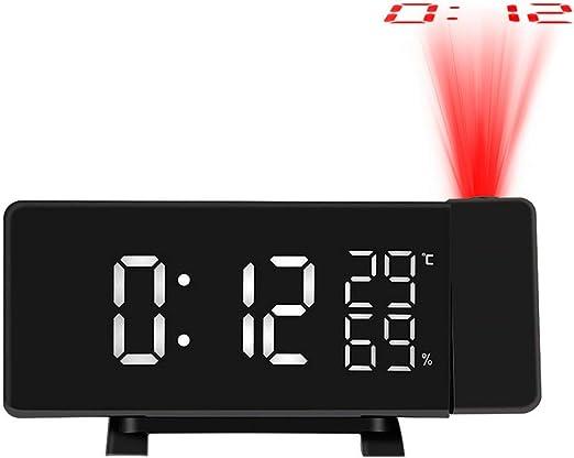 GuDoQi Radio Despertador Proyector Digital FM Radio Reloj ...