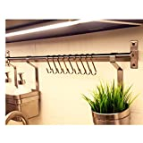 10 Pack,Webi Sturdy SUS 304 Flat S Shaped Hooks Lightweight Small Size Hanging For Kitchenware Tools Organier Hand Towels Clothes Jewelry,for 19mm Dia Rods