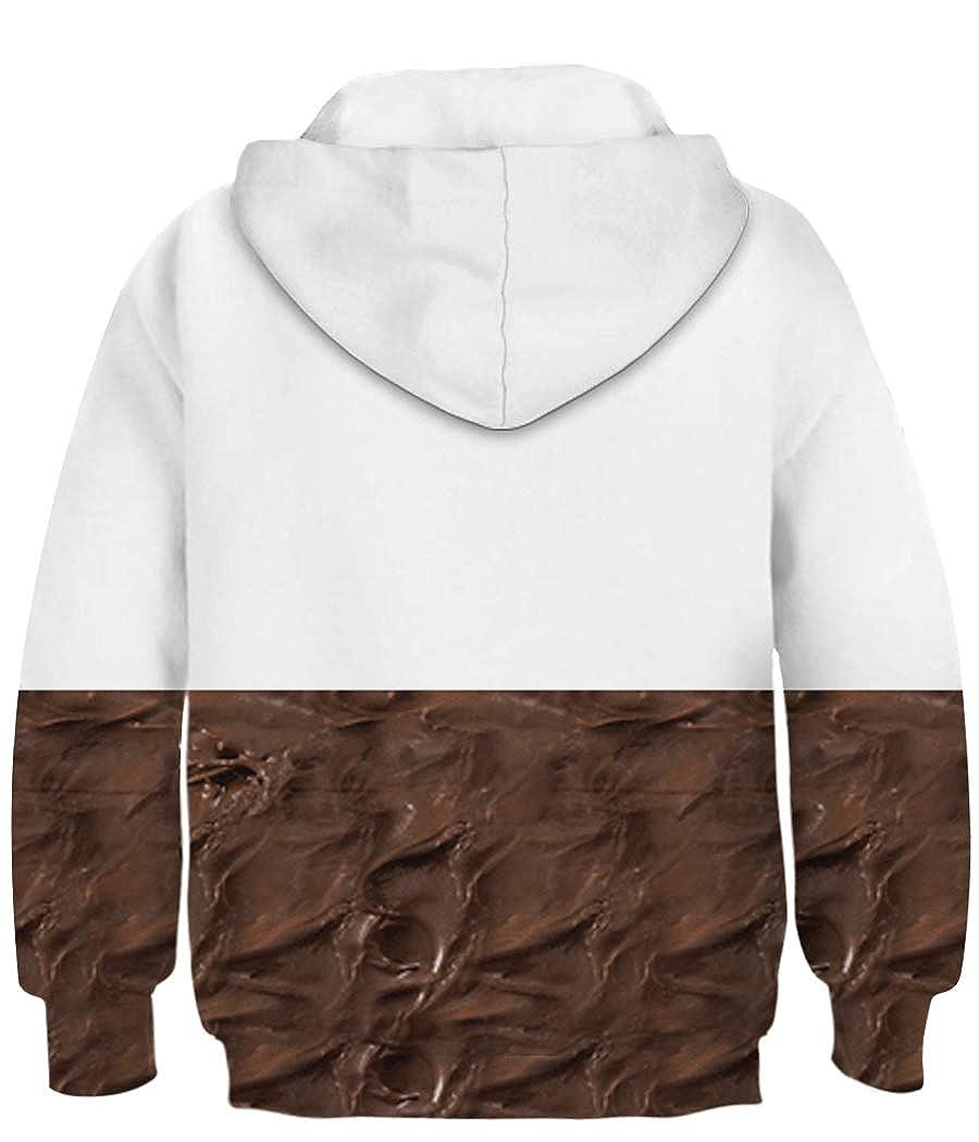 Amenxi Boys Teen 3D Hooded Print Graphic Sweatshirts Long Sleeve Pullover Hoodies with Pocket