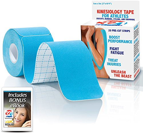 Kinesiology Tape Blue Black Beige