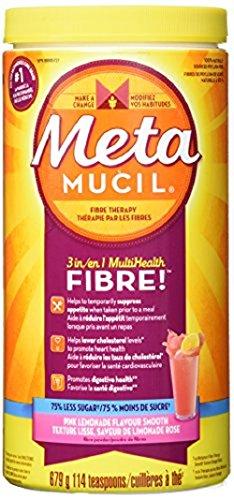 Metamucil Smooth Texture, Pink Lemonade, Sugar-Free, 114 Doses