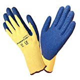 Cordova 3050L Power Cor Gloves with Blue Latex Coating, 100 Percent Kevlar Shell, Blue Natural, Large
