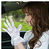 Pyrsun(TM) New Arrival Sexy Lady Sun Protection Hand Accessories Women Hollow Flower Pattern Lace Gloves Girls Full Finger Mitten