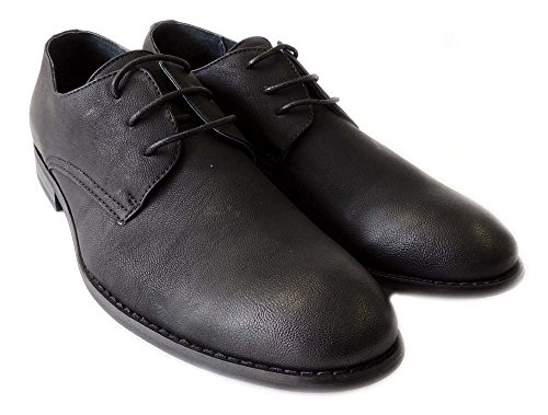 New Fashion Mens Lace Up Oxfords Wing Tip Dress Shoes M19237black