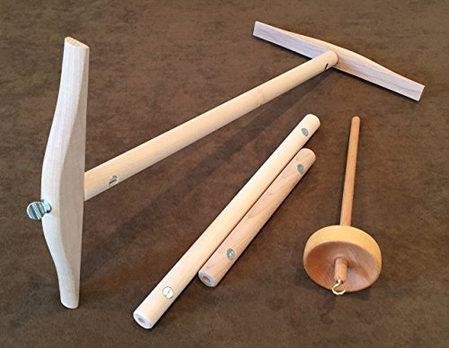 geable Niddy Noddy Top Whorl Drop Spindle Spinner Set (Interchangeable Spindle)