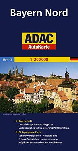 ADAC AutoKarte Deutschland, Bayern Nord 1:200.000 (ADAC AutoKarten Deutschland 1:200 000)