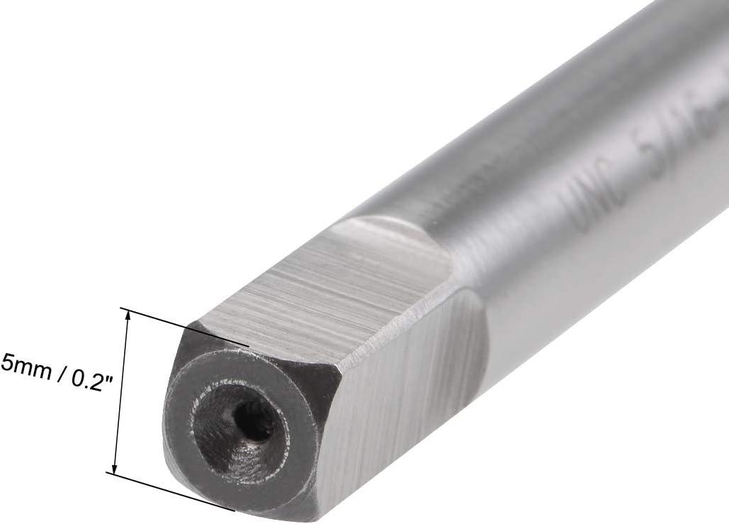 sourcing map Machine Tap 5//16-20 UNC Thread Pitch 2A 3 Flutes High Speed Steel