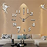 Cheap TYCGY Fashion 3D wall clock clocks reloj de pared watch 3d diy Acrylic mirror Stickers Quartz Modern Home Decoration