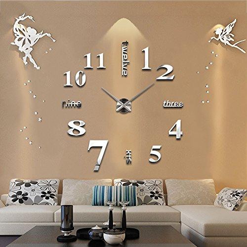 TYCGY Fashion 3D wall clock clocks reloj de pared watch 3d diy Acrylic mirror Stickers Quartz Modern Home Decoration
