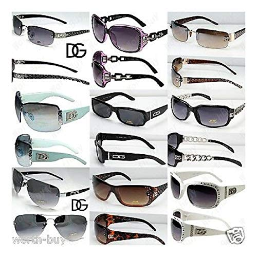 Lot of 30 random Pairs DG Sunglasses Fashion Designer Mens Womens Wholesale