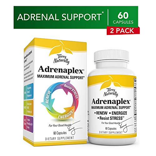 Terry Naturally Adrenaplex (2 Pack) - 60 Capsules - Maximum Adrenal Support Supplement, Promotes Daily Energy, Mental Focus & Physical Endurance - Non-GMO, Gluten-Free - 60 Total Servings