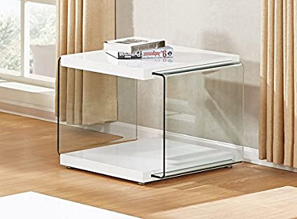 Amazon Com Best Quality Furniture Ct117 White End Table Kitchen