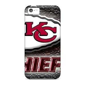 Scratch Resistant Cell-phone Hard Covers For Iphone 5c (sbM481hgIv) Unique Design Stylish Kansas City Chiefs Image