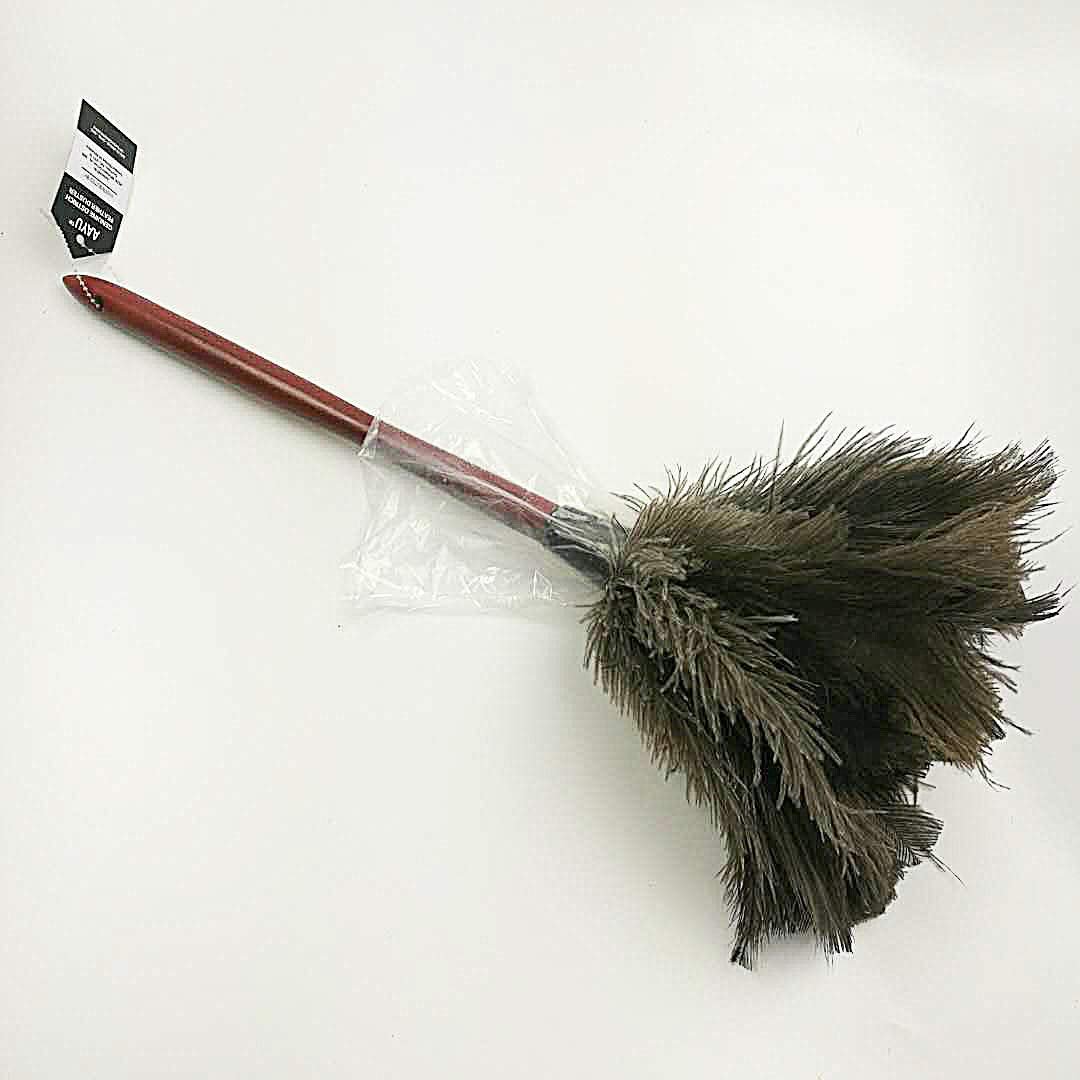 Ostrich Feather Duster 22 inch by AAYU | Natural Duster for Cleaning and Feather Moping | Genuine Ostrich Feather Duster Long Wooden Handle | Eco-Friendly | Easy to Clean Dust (55 cm)