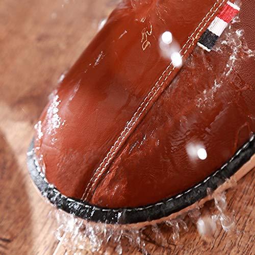 Cotton Indoor Home Non Pink Thick Lovers slip Aminshap Ladies Slippers Winter Waterproof Bottom BqOawvPZx