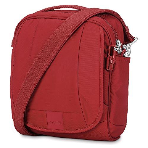 Theft Anti Metrosafe Shoulder Bag Black Vintage Pacsafe Red LS200 Z764pxxF