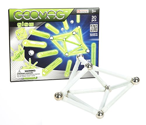 Geomag 30-Piece Glow-in-the-Dark Construction Set - Mentally...