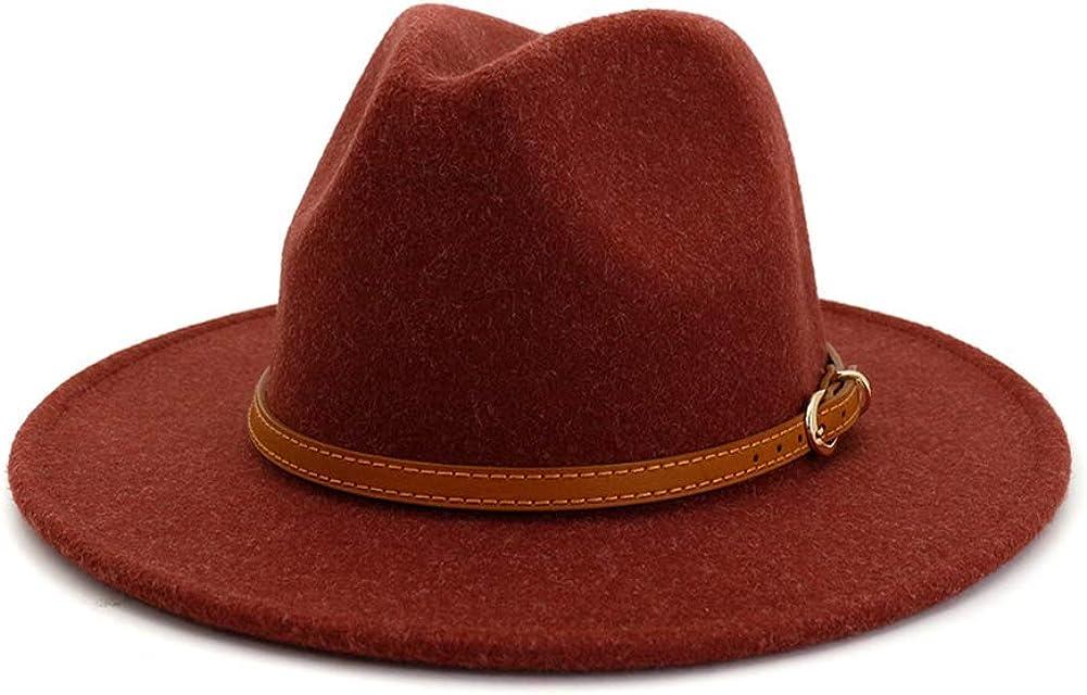 Wool Fedora Hats Wide Brim...