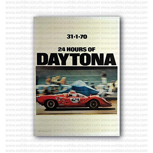 1970 Daytona 24 Hours Ferrari Speeding Vintage Racing Repro Poster (20in x 14.5in) 1970 Ferrari