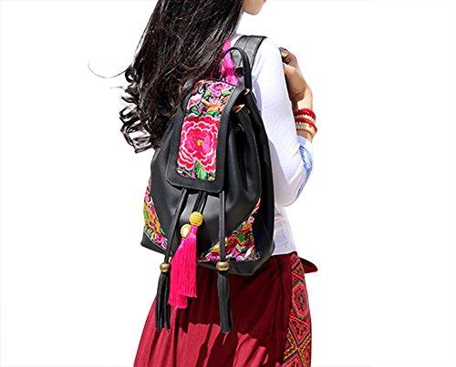 100% Fait Main Sac à Dos Femme Besace Tribal - Broderie d'Art Oriental #148