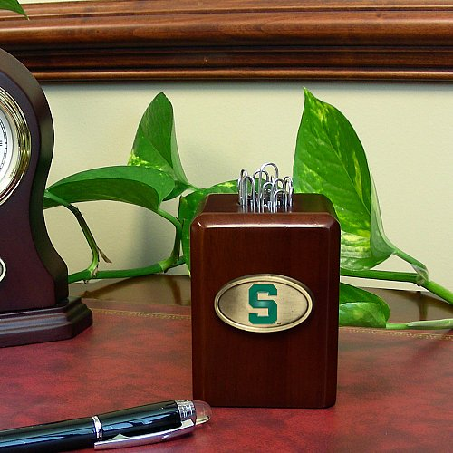 Memory Company NCAA Michigan State University Paper Clip Holder, One Size, (State University Clip)