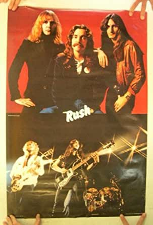 Rush Poster Vintage Band Shot Collage At Amazon S