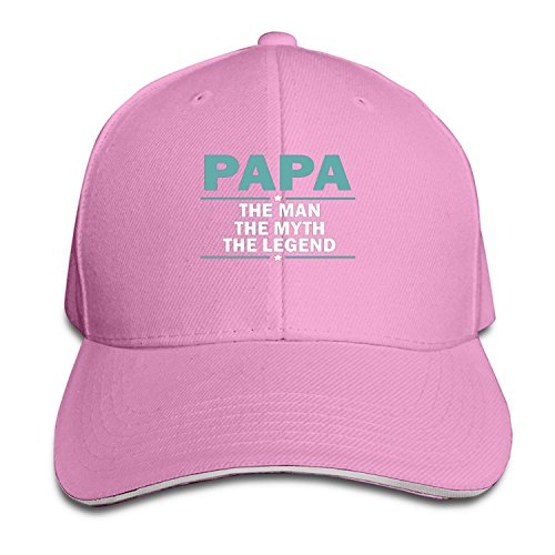 Papa The Man The Myth The Legend Hat Unisex-Adult Hip-Hop Baseball (Darth Vader Pumpkin Carving)