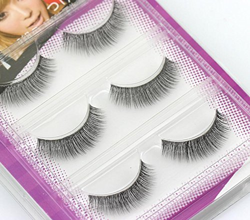 3 Pairs Women Natural Eye Lashes Extension Makeup