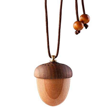 Roy Aroma Wooden Acorn Essential Oil Car Diffuser Air Freshener Hang Decoration by Roy Aroma
