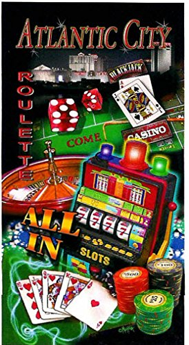 Livingston Home 2 Piece Casino Slot Machine Beach Towel Set, Atlantic City Gambling ()