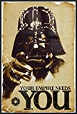 "Star Wars - Framed Movie Poster / Print (Darth Vader: Your Empire Needs You) (Size: 24"" x 36"")"