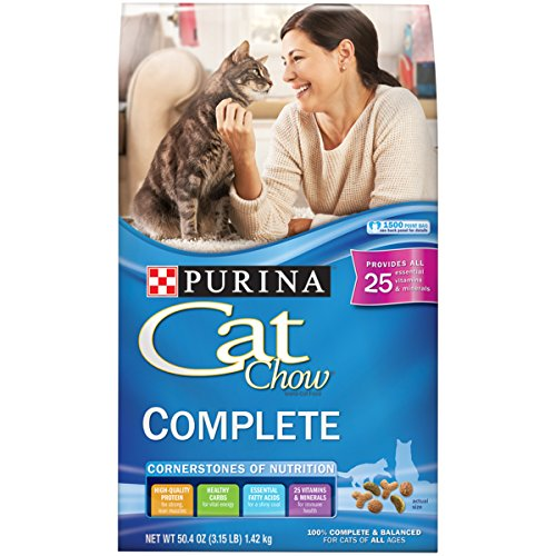 Purina Cat Chow Dry Cat Food; Complete - (4) 3.15 lb. Bags
