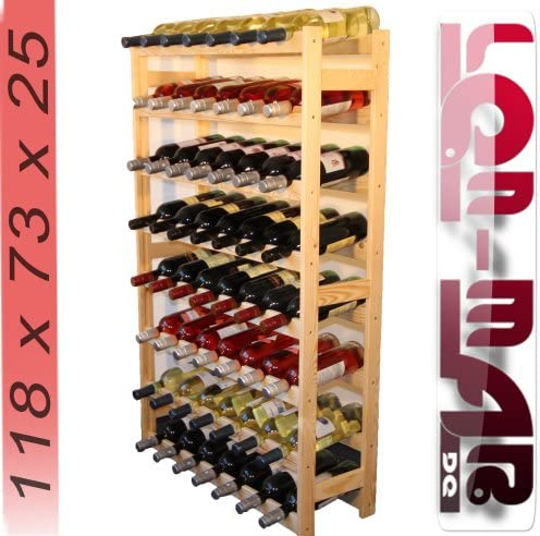 Modo24.de Wine Rack for 56 Bottles - Wood - New RW_1_56