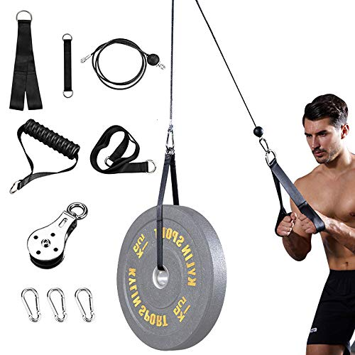 Fitness Pulley Cable Machine Set Biceps Triceps Arm Blaster Hand Strength DIY