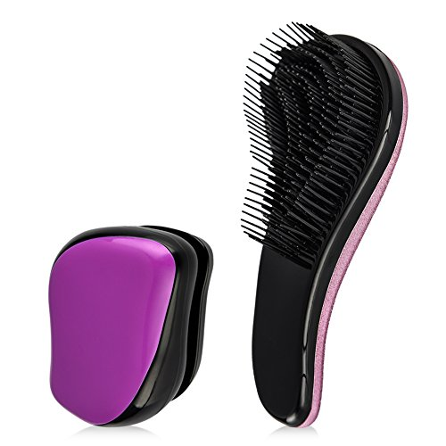 Uarter Detangling Brush Professional Styling Hair Brush Mini Pocket Wet and Dry Detangler Comb for Knotted, Wavy, Curly, Matted Hair (Mini Detangling Hair Brush compare prices)
