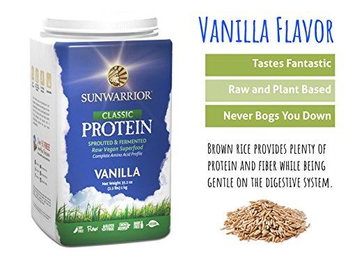 SUNWARRIOR Natürliches Classic protein Vanille, 1er Pack (1 x 1000 g ...
