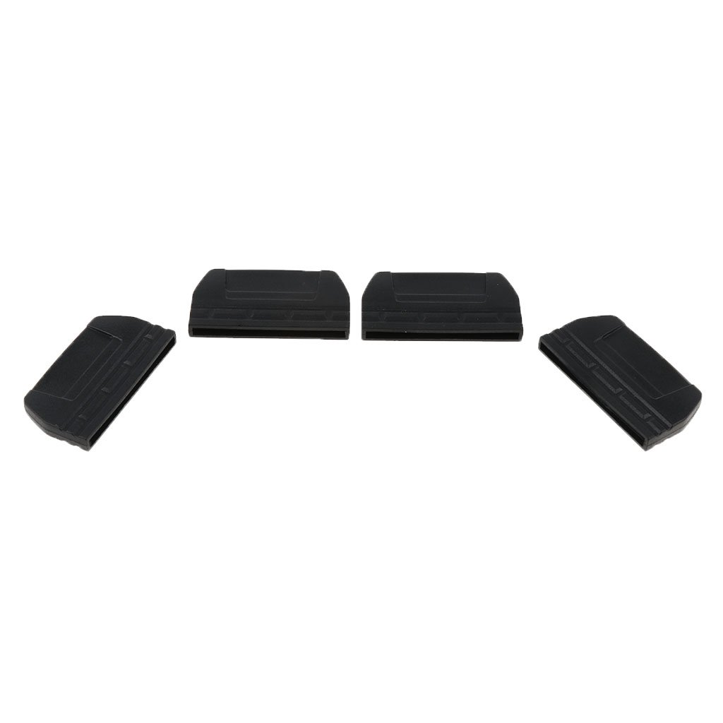 38mm CUTICATE 4pcs Sac /à Ceinture Sangle Queue Plate Boucles Dextr/émit/é Clips 20mm 30mm 25mm