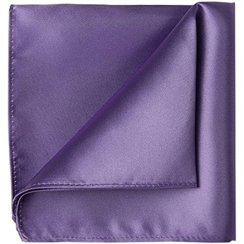 KissTies Lavender Iris Pocket Square Mens Satin Handkerchief + Gift Box