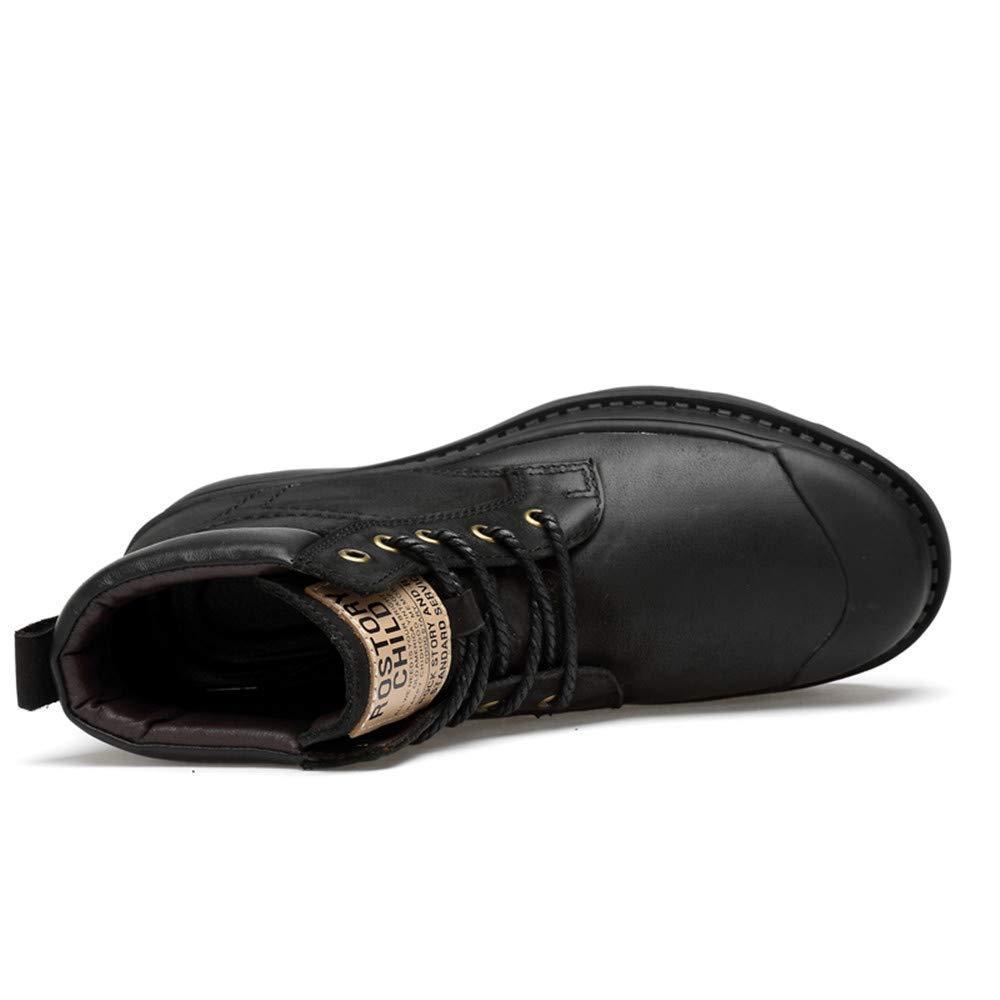 Oudan Herren Stiefeletten, Stiefeletten, Stiefeletten, Feinste Qualität Echtes Leder Winter Warme Stiefeletten (Farbe   Schwarz, Größe   43 EU) (Farbe   Schwarz, Größe   43 EU) 3400e9