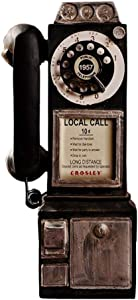 Dvluck Vintage Rotate Classic Look Dial Pay Phone Model Retro Booth Home Decoration Ornament