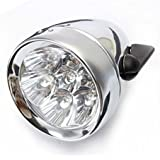 7 LED avant projecteurs - TOOGOO (R)7 LED vintage de bicyclette avant projecteurs