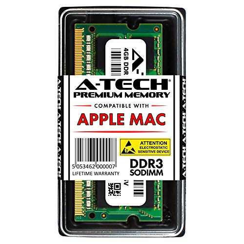 A-TECH for Apple 4GB DDR3 1067MHz / 1066MHz PC3-8500 SODIMM Memory RAM Module for MacBook, MacBook Pro, iMac, Mac Mini - (Late 2008, Early 2009, Mid 2009, Late 2009, Mid 2010) Models ()